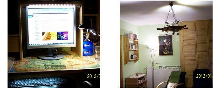 Monitor LED szalagos és szoba LED szpotos megvilágítása