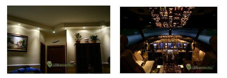 LED szpotos hangolatvilágítás és Malév Boeing 737 szimulátor