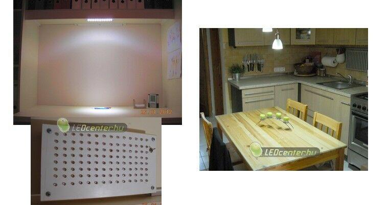 Polc saját készítésű és konyhaasztal megvilágítása