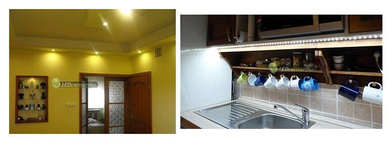 Álmennyezet és konyhapult LED világítása