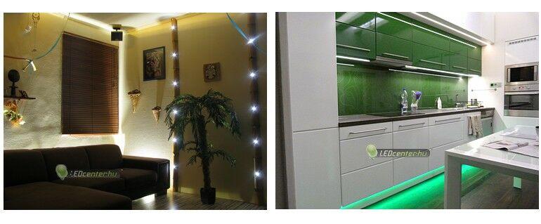 Egyedi LED dekoráció és konyhavilágítás