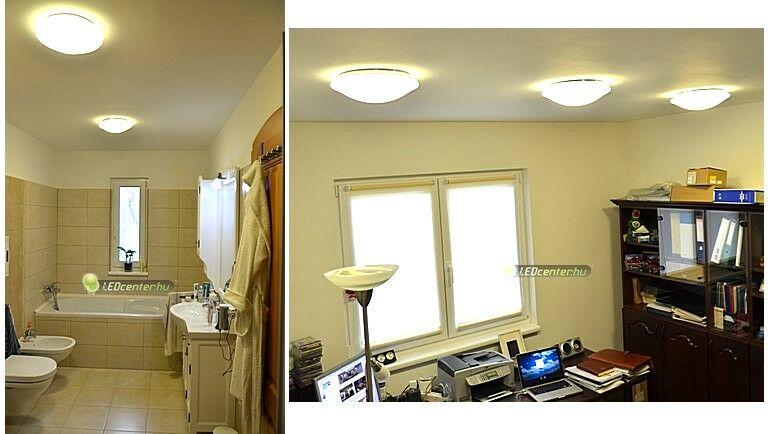 Fürdő és dolgozó LED UFO lámpás fővilágítása
