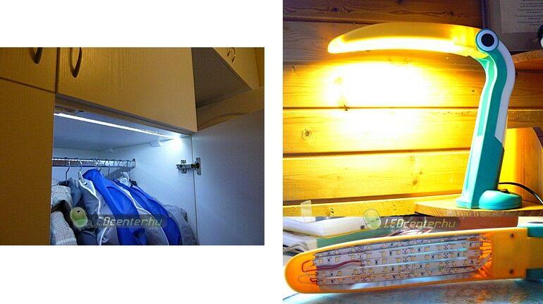 Gardrób és madárlámpa LED szalagos világítása