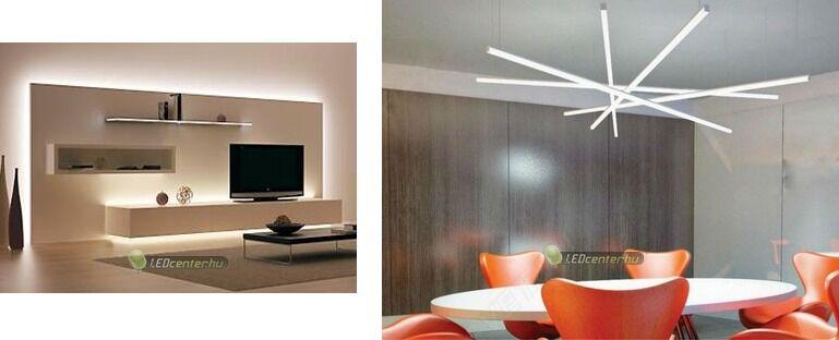 LED szalagos háttér- és fővilágítás LED aluprofilokból