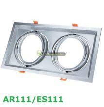 AR111/ES111 billenthető lámpatest, matt ezüst, dupla, 330x180mm