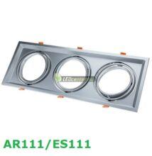 AR111/ES111 billenthető lámpatest, matt ezüst, tripla, 480x180mm
