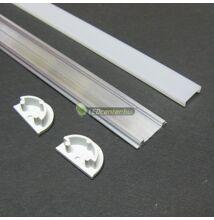 ARC hajlítható LED aluprofil 2000 mm, fedővel, záróvégekkel
