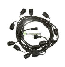 GIRLANDA 10m 10db E27/230V IP44 party füzér, party kábel, toldható