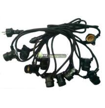 Party kábel 50m 50db E27/230V aljzattal IP65
