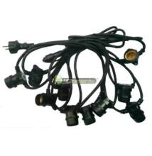 Party kábel 50m 10db E27/230V aljzattal IP65