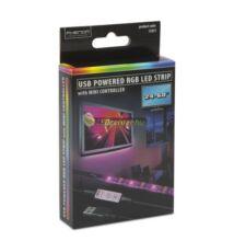 USB tv háttérvilágítás, 5V, 3,6W, 2x50cm, RGB - mini vezérlővel