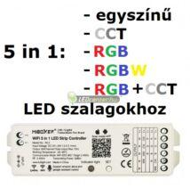 MiLight 5 az egyben RGB, RGB+W, CCT, wifi RF vezérlőegység, 180W