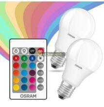 OSRAM E27/230V RGBW izzólámpa távirányítóval, 9W=60W, 2 szett