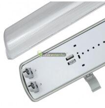 IP65 por-, páramentes dupla LED fénycső armatúra, 60 cm