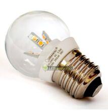 GLORIA-5 3,5W=25W 250 lumen E27 LED kisgömb melegfehér 3évGar