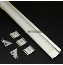 CORNER LED aluprofil 2000 mm, fedővel, záróvégekkel, rögzítővel