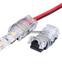 IP65-ös forrasztásmentes betápelem 8 mm-es LED szalaghoz