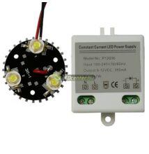 Barkács csomag 1db 3*1W-os hidegfehér EDISON LED modullal