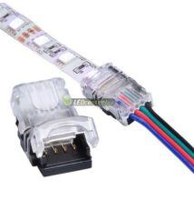 IP65-ös forrasztásmentes betápelem RGB LED szalaghoz