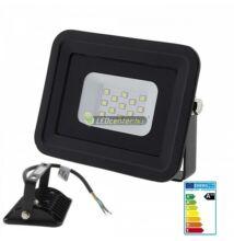 SLIM2 fekete LED reflektor, fényvető, 10W/230V, melegfehér, 2évG