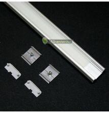 SURFACE LED aluprofil 1000 mm, fedővel, záróvégekkel, rögzítővel