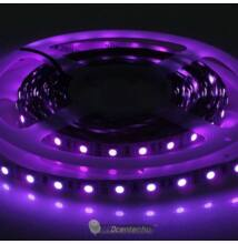 UV beltéri LED szalag, 60 SMD5050 LED 14,4 W/m, ultraviola