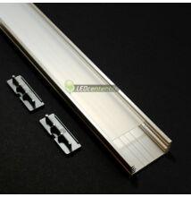 WIDE LED aluprofil 2000 mm, fedővel, záróvégekkel