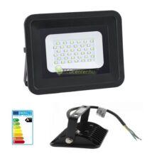SLIM2 fekete LED reflektor, fényvető, 20W/230V, melegfehér, 2évG