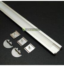GROOVE LED aluprofil 2000 mm, fedővel, záróvégekkel, rögzítővel