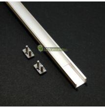 SLIM LED aluprofil 2000 mm, fedővel, záróvégekkel