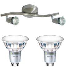 NORMAN-2 lámpatest és 2 Philips 5W=50W 120° melegf. LED szpot