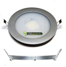 INTI 7,5W=75W kerek matt ezüst LED mennyezeti lámpa melegfehér 3évGar