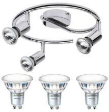 NORTON-3 lámpatest és 3 Philips 5W=50W 120° melegf. LED szpot