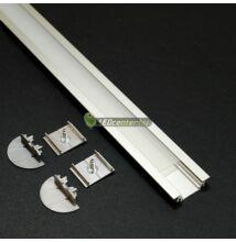 GROOVE LED aluprofil 1000 mm, fedővel, záróvégekkel, rögzítővel