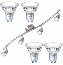 NORMAN-4 lámpatest és 4 Philips 5W=50W 120° melegfehér LED szpot