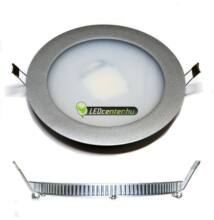 INTI 7,5W=75W kerek m. ezüst LED mennyezeti lámpa hidegfehér 3évGar