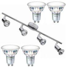 NORTON-4 lámpatest és 4 Philips 5W=50W 120° melegf. LED szpot