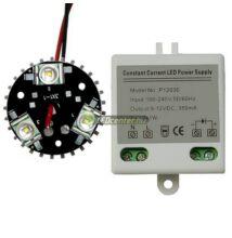 Barkács csomag 1db 3*1W-os melegfehér CREE XR-E LED modullal