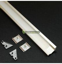 CORNER LED aluprofil 1000 mm, fedővel, záróvégekkel, rögzítővel