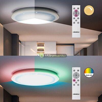 LEONIE 32W RGB, CCT, távirányítós, dimmelhető, multifunkciós mennyezeti lámpa 5évG