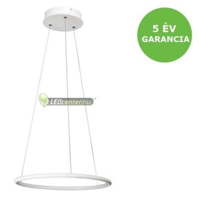 DONATELLA modern, dizájn LED lámpa fehér-króm, 21W, természetes fehér 5évG