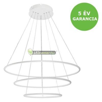 DONATELLA modern, dizájn LED lámpa fehér-króm, 95W, természetes fehér 5évG