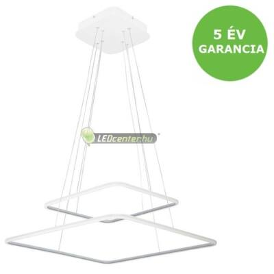 DONATELLA modern, dizájn LED lámpa fehér-króm, 65W, természetes fehér 5évG
