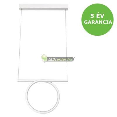 DONATELLA modern, dizájn LED lámpa fehér-króm, 20 W, természetes fehér 5évG