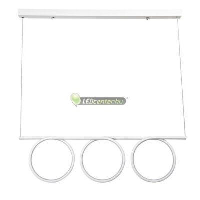 DONATELLA modern, dizájn LED lámpa fehér-króm, 60 W, természetes fehér 5évG