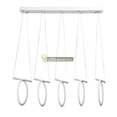 DONATELLA modern, dizájn LED lámpa fehér-króm, 108 W, természetes fehér 5évG