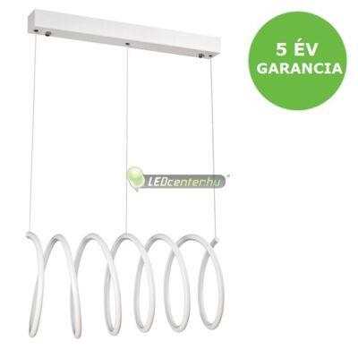 DONATELLA modern, dizájn LED lámpa fehér-króm, 86W, természetes fehér 5évG