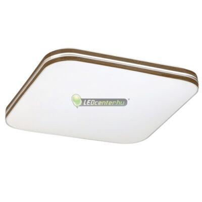 OSCAR LED 18W fehér/dió négyzet mennyezeti lámpa, természetes fehér 5évG