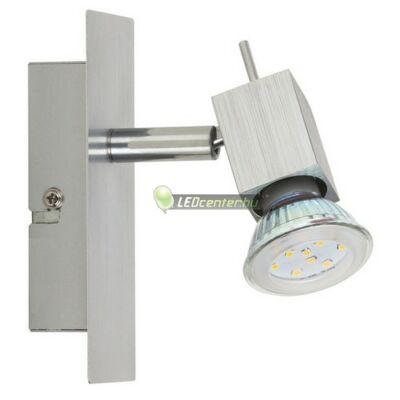 AGATA-1 szálcsiszolt alumínium lámpatest és 5W=50W melegfehér GU10 LED szpot