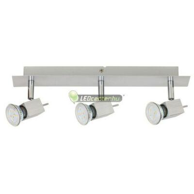 AGATA-3 szálcsiszolt alumínium lámpatest és 3x5W=50W melegfehér GU10 LED szpot